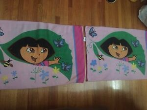 Two standard Dora pillow cases