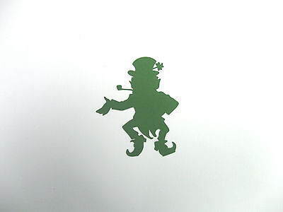 Dancing Leprechaun silhouettes Pkg 3  Bazzill cardstock die cuts