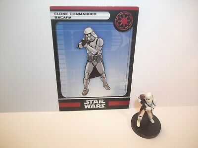 Star Wars Miniatures - Clone Commander Bacara 21/60 + Card - Rare - COTF