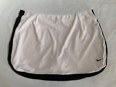 Nike Skirts Border Skirt (Nike Dri Fit Border Tennis Skirt Skort Golf Athletic White Size Medium)