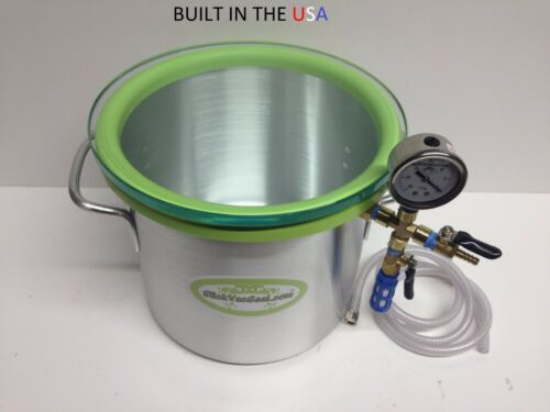 3.0- Gallon Aluminum Chamber With Clear Tempered Glass