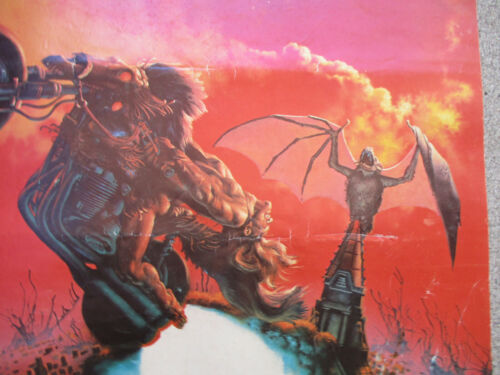 Meat Loaf Bat Out of Hell Rock Band Poster Motorcycle Cemetery Vintage 1978
