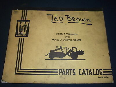 Letourneau Model C Tournapull W Lp Carryall Scraper Parts Manual Book Catalog
