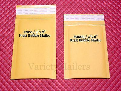 25 Kraft Bubble Envelope Combo 4x6 4x8 Small Padded Mailers