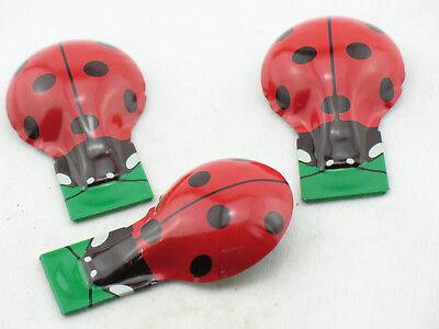 Blechspielzeug - Knackfrosch Marienkäfer, extra stabil von Kovap, 3er Set  0752  ()