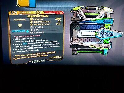 Level 57 Old God SHOCK Amara phasegrasp constant NOVAS xbox BL3