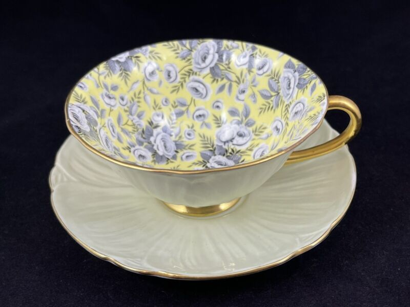 Extremely Scarce Shelley Oleander Chintz Tapestry Rose Cup & Saucer