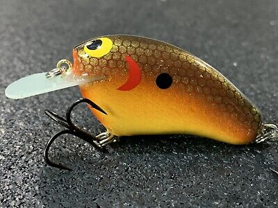 Money Maker #1 Tim Earick Orange Candy Craw Color Custom Balsa Crankbait