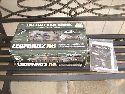 RARE Tokyo Marui 1/24 R/C Shooting Battle Tank Leopard2 A6 SEE DESCRIPTION, used for sale  Orangevale