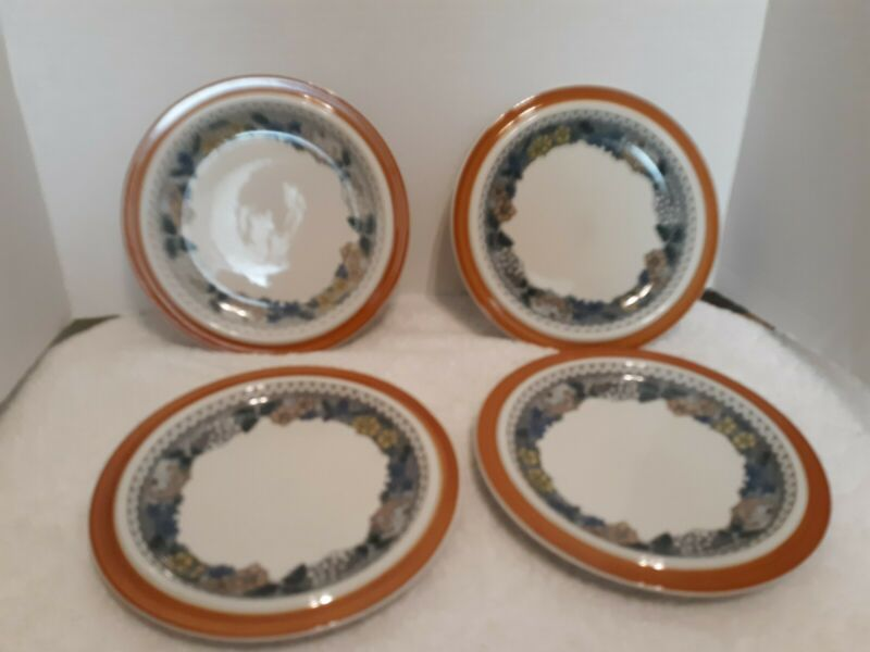 Goebel Country Burgund 4 Salad Plates