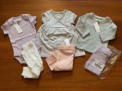 Gymboree Baby Girl Layette 6 Piece Set Purple, Pink & White 3-6 Months NWT