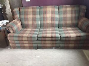Pull-out couch with matching arm chair