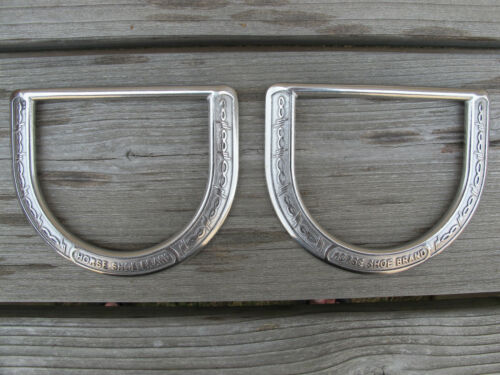 """Pair Of Jeremiah Watt Barb Wire Saddle Dee 3-1/2"""" Stainless Hardware Horse Tack"""