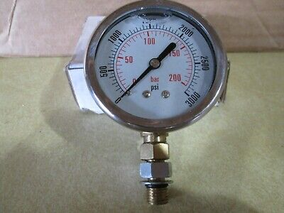 Dynamic Fluid Cf1p-210a-sae Pressure Gauge 3000psi With Washer Assembly 4616 Sae