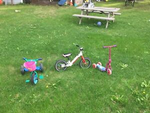 Little girl wants to sell her old rides