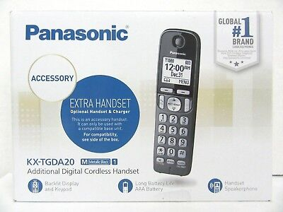 NOB Panasonic KX-TGDA20M Metallic Black Accessory Digital Cordless Handset -