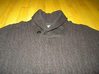 (Ben Sherman 100% Lambswool Shawl neck Burgundy Pull-Over Sweater Size Medium)