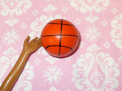 Barbie Doll Size BASKETBALL Accessory Dream House Playground BALL Rubber Ball