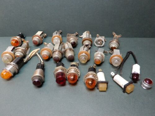 Huge Lot of Various Makes and Style Instrument Panel Lights All Shapes and Types