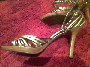 The Kick gold and bronze stiletto sandles Valley View Salisbury Area Preview