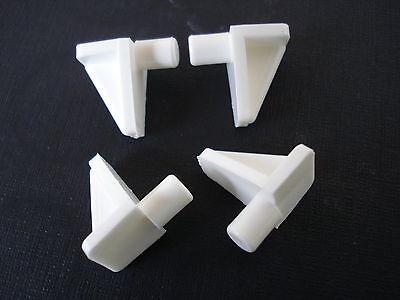 Lote de 100 Grapa Estante Blanco Nylon PVC Tablet