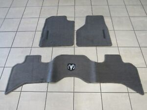 DODGE RAM 1500 2500  Front & Rear Premium Taupe Carpet Floor Mats NEW OEM MOPAR