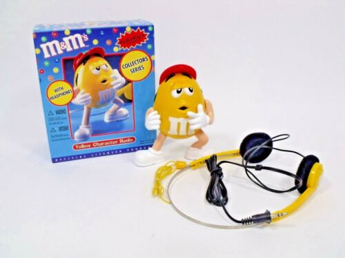 m&m's Yellow Character Radio with Headphones Collector's Series NEW