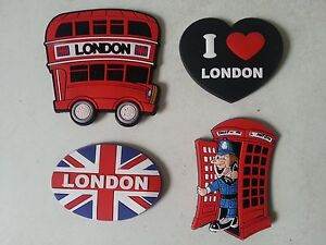 Souvenir  3D FRIDGE MAGNET -4 LONDON ICONS -