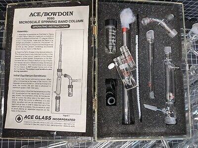 Ace 9595 Microscale Spinning Band Column 1410 Vacuum Fractional Distillation
