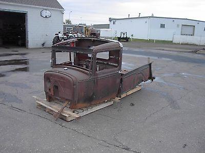 1931 Ford Model A pickup parts car + TI T LE Cab box grill radiator doors