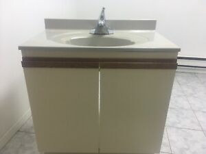 Vanity with faucet