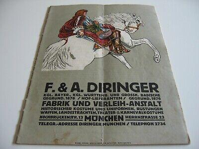Katalog Diringer Fabrik und Verleihanstalt Karneval-Kostüme Uniformen Trachten