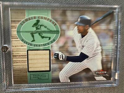 2002 Fleer David Justice Legendary Lumberjacks Game-Used Bat Card