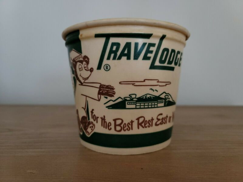 Vintage TraveLodge Wax Ice Bucket