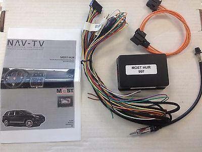 Porsche Boxster 2005-2012 Fiber optic stereo interface NTV-KIT210 NAV-TV