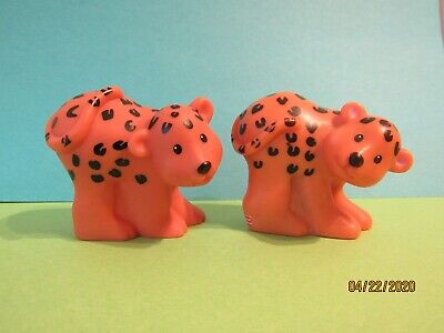 2 Jaguars - Fisher Price Little People - For Zoo / Noah's Ark