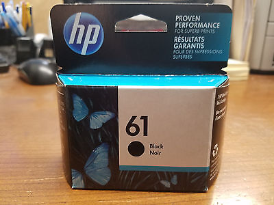 New in box Sealed Genuine HP 61 Black Ink Cartridge 2019 CH561WN Envy 4500 5530