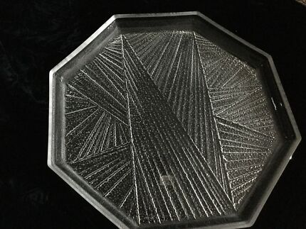 Vintage crystal Mikasa octagonal party platter