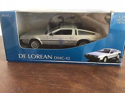 WELLY Delorean DMC-12 1:24 Scale Diecast Model Car New In Box - VERY RARE !!