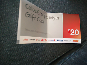 20$ Coles/Myer gift card Southbank Melbourne City Preview