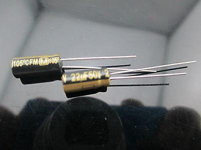 5pcs Japan Panasonic Fm 22uf 50v Low Esr Impedance Electrolytic Capacitors