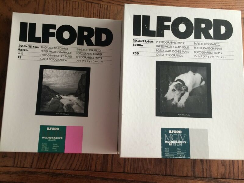 Ilford 8x10 Multigrade Darkroom Paper (read description)