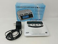 Midland WR-300 AM FM All Hazards Weather Alert Radio With Charger Box Working