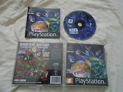 Kiss Pinball PS1 (COMPLETE) Gene Simmons arcade Sony PlayStation black label