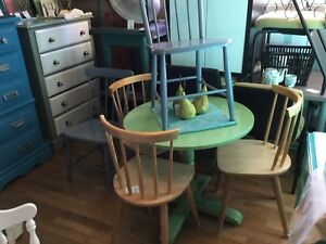 Dining table: small green