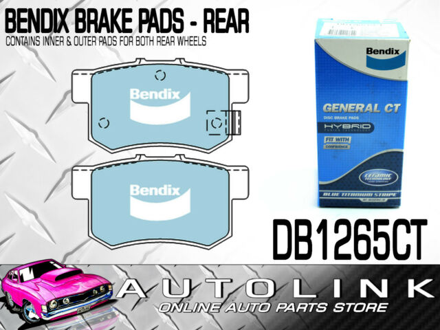 BENDIX BRAKE PADS REAR SUIT HONDA ACCORD 1.8lt CB1 CB2 , 2.0lt CB3 CB4 CB5 CB6