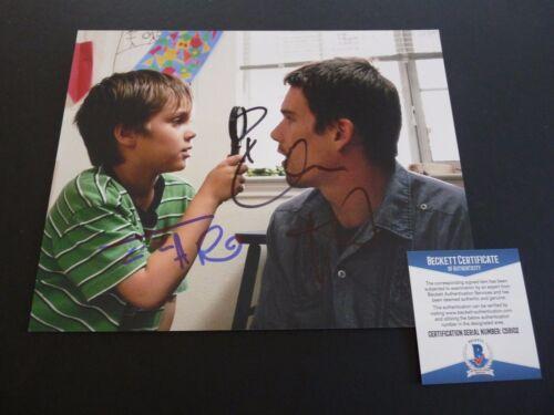 Ethan Hawke & Ellar Coltrane Signed Boyhood 8x10 Photo Beckett Certified