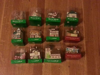 12 Department 56 Dickens and New England Village Lite-Up Clip Ornaments Bisque