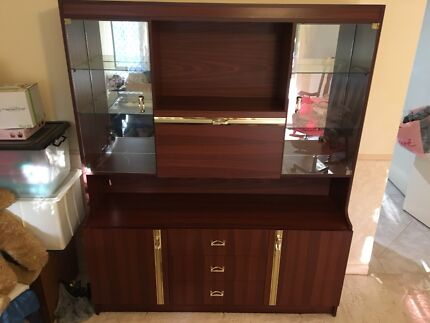 Jarrah 3 piece wall unit made in WA by Artra—stunning condition ...
