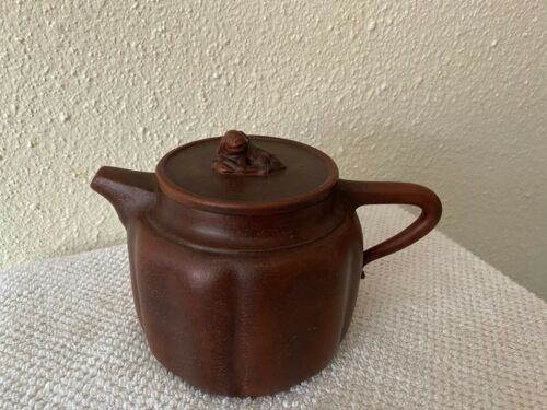 Beautiful Vintage Chinese Yixing Zisha Clay Teapot marked excellent condition